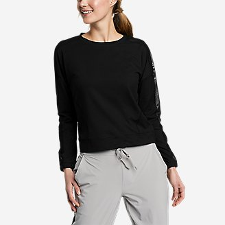 Women's Resolution 360 Mesh Mix Long-Sleeve Pullover in Black