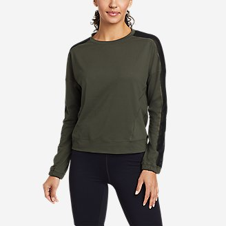 Women's Resolution 360 Mesh Mix Long-Sleeve Pullover in Green