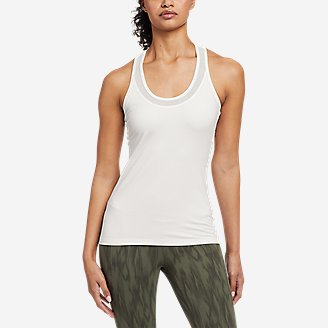 Women's Resolution 360 Mesh Mix Tank Top in White