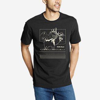 Men's Graphic T-Shirt - Elk Horizon in Black
