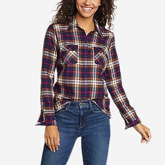 Women's Firelight Flannel Shirt in Brown