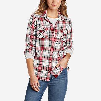 Women's Firelight Flannel Shirt in Beige