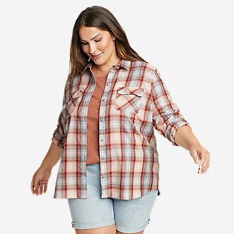 Women's Firelight Flannel Shirt in Pink