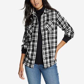 Women's Firelight Flannel Shirt in Gray