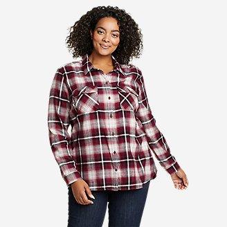 Women's Firelight Flannel Shirt in Purple