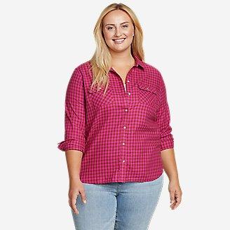 Women's Firelight Flannel Shirt in Red