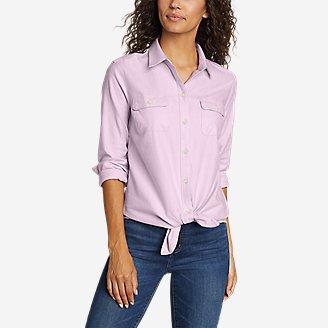 Women's Firelight Flannel Shirt - Solid in Purple