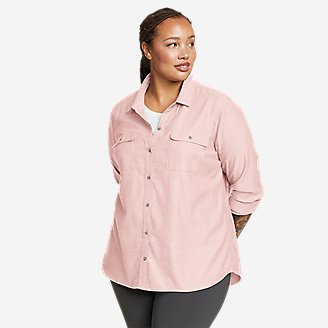 Women's Firelight Flannel Shirt - Solid in Pink