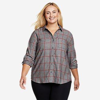 Women's Firelight Flannel Shirt - Boyfriend in Gray