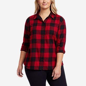 Women's Firelight Flannel Shirt - Boyfriend in Red