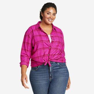 Women's Firelight Flannel Shirt - Boyfriend in Pink