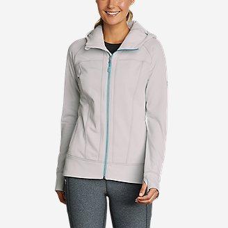 Women's High Route Grid Fleece Full-Zip Jacket in Beige