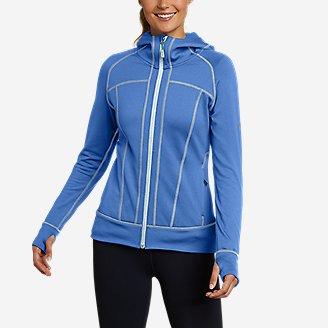 Women's High Route Grid Fleece Full-Zip Jacket in Blue