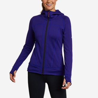 Women's High Route Grid Fleece Full-Zip Jacket in Blue