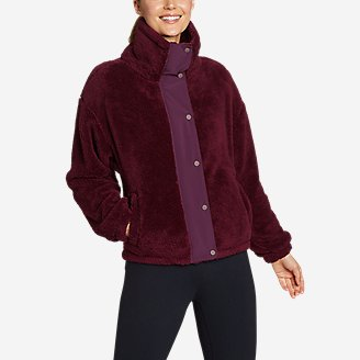Women's Quest Plush Snap-Front Jacket in Red