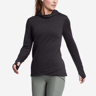 Women's On The Trail Tulip-Hem Hoodie in Black