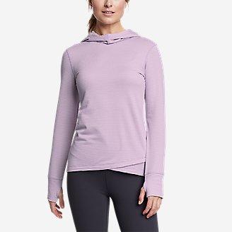Women's On The Trail Tulip-Hem Hoodie in Purple