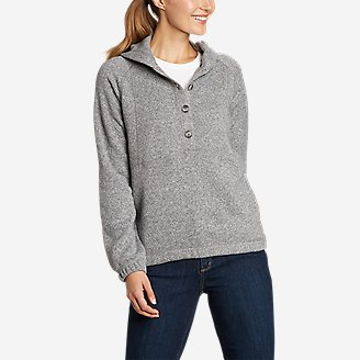 Women's Sunray Sweater Fleece Hoodie in Gray