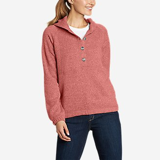Women's Sunray Sweater Fleece Hoodie in Red