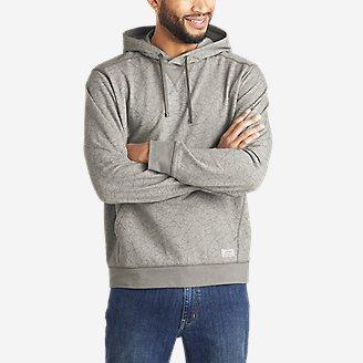 Men's Camp Fleece Pullover Hoodie - Pattern in Gray