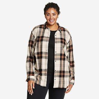 Women's Fremont Flannel Snap-Front Tunic in Beige