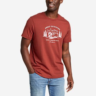 Men's Graphic T-Shirt - Park At Home in Brown